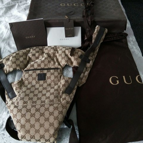 5abab7125c5 Authentic Gucci baby carrier BRAND NEW!Bought few years back - Depop