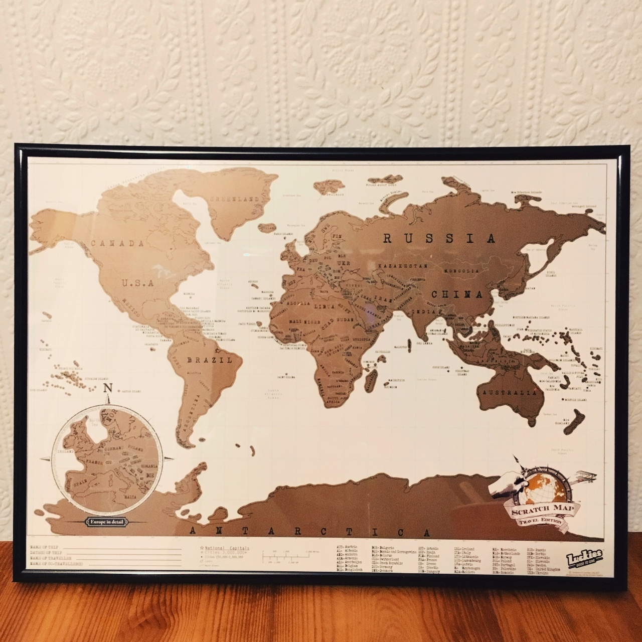nd new scratch map in frame! Bought frame... - Depop Map In Frame on maps in text, maps in art, maps in home, maps in paintings, maps in paper, maps in wood,