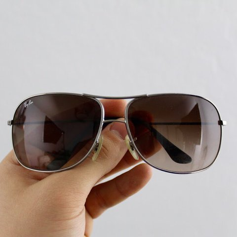 bfba8e899a Ray Ban RB 3267 004 13 Brown Gradient Aviator Style Size  - Depop