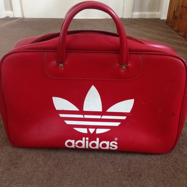 Vintage Adidas luggage or bowling bag made by Peter black an - Depop f345c192f458d