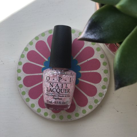 OPI nail polish in Petal Soft. Clear base with pink and and - Depop