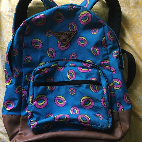 85f71135e2d4 Blue Odd Future Donut Backpack. shows clear signs of being a - Depop