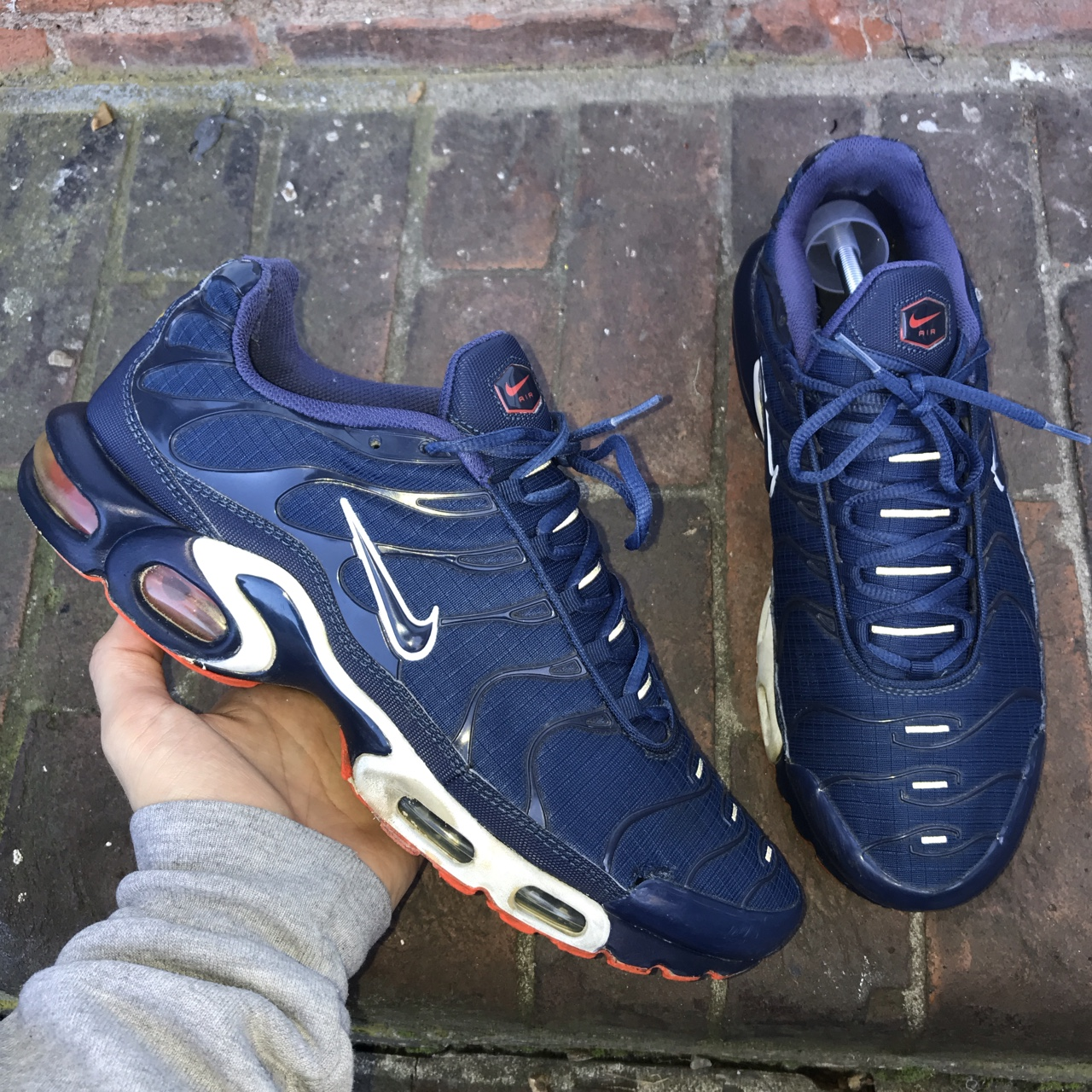 Nike Air Max Plus Tn Tuned Navy Blue White Red Depop