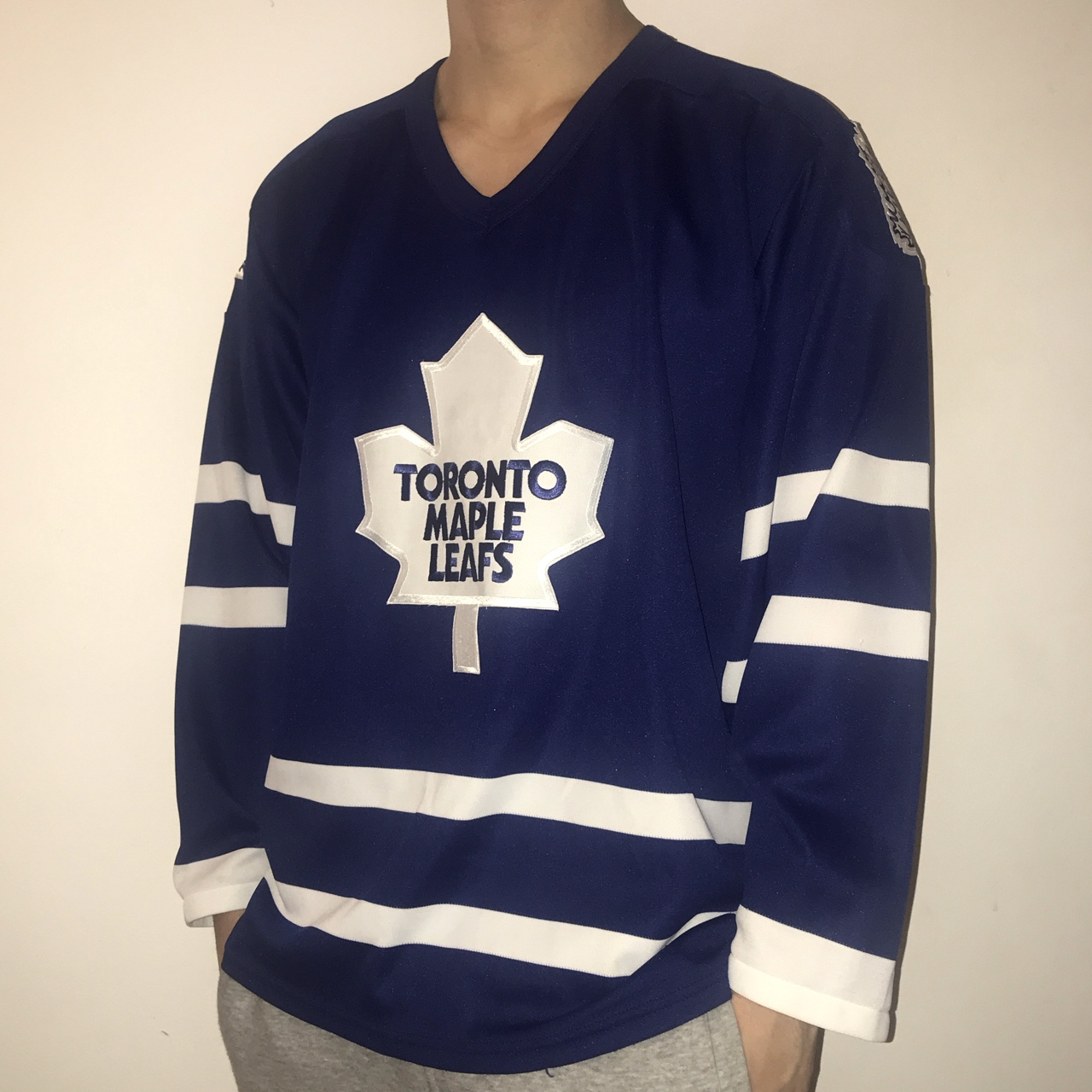 sneakers for cheap 4a875 c0650 Toronto Maple Leafs NHL CCM Blue Hockey Jersey Big ...