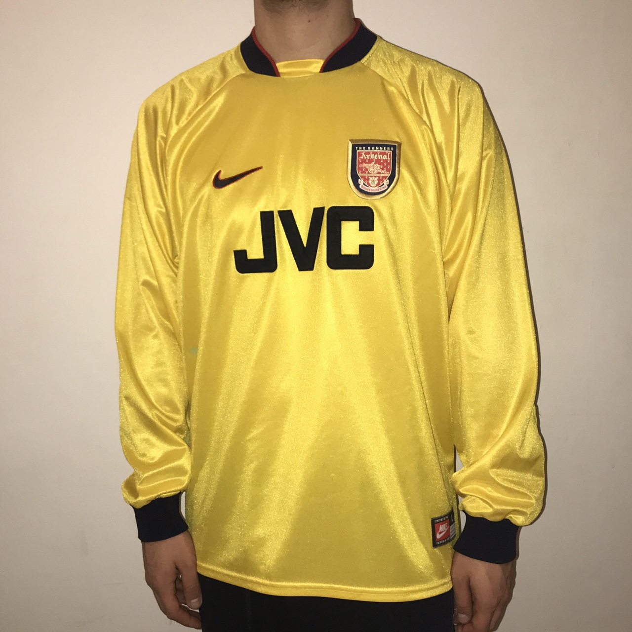 super popular 871e9 b8b02 Nike Arsenal FC Long Sleeve Yellow Goalkeeper Jersey ...