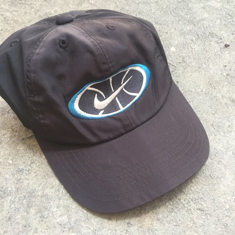 94770765 @zhampo01. 2 years ago. Thailand. Vintage 90s Nike swoosh logo nylon hat.  Brand : Nike Good condition. Pre-owned 8.5/10. Size : One size fit all