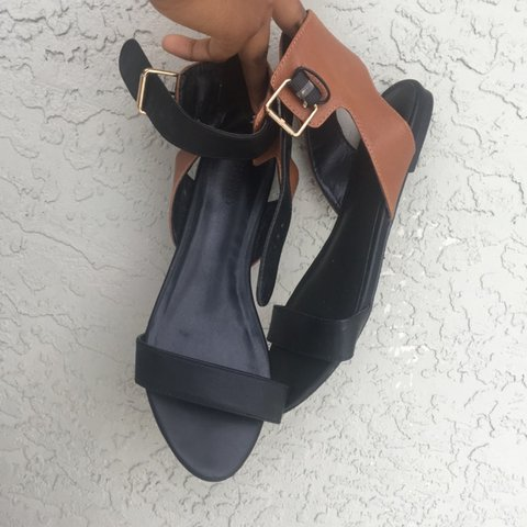 926f500cf199 Forever 21 black and brown sandals. Only worn once! - Depop