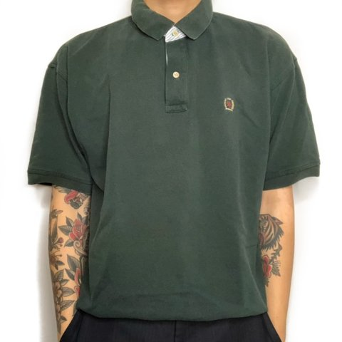 764b69d5 @scratch_n_smile. 4 days ago. Boston, United States. Forest Green Tommy  Hilfiger Short Sleeve Polo