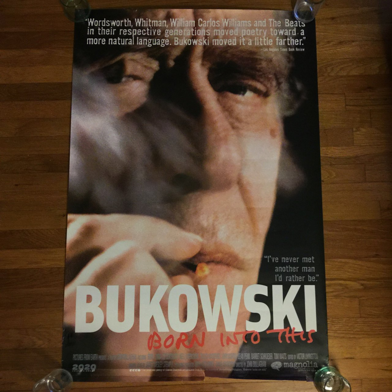 Bukowski Born Into This Film Single Sided One Sheet 27x40 Depop