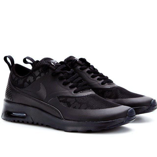 hot sale online be3ed 08f87  alishaa. 5 years ago. Manchester, UK. Nike Air Max Thea. All black with  reflective leopard print.