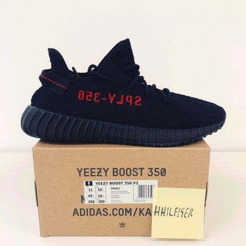 a58da9395 Adidas Yeezy Boost 350 V2 Bred Size Uk10.5 DS Brand New in - Depop