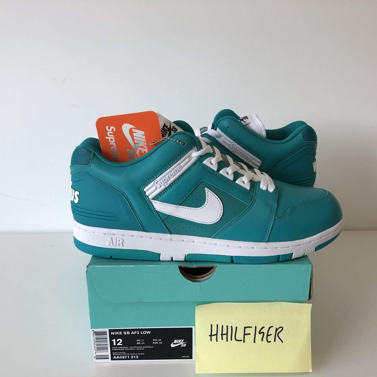 Supreme x Nike SB Air Force 2 Low Pack Blue Size New in at - Depop 98053193e