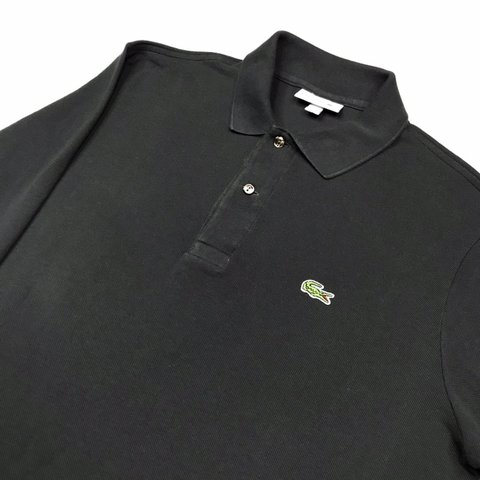 1ccf2af7 Men's Lacoste Dark Grey Long Sleeve Polo Shirt Classic 4- - Depop