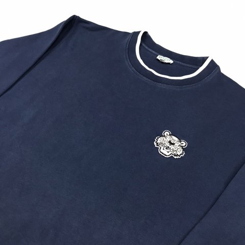 0b7eced5 @wynns_wardrobe. 3 months ago. Wolverhampton, United Kingdom. Men's Kenzo  Navy/White Tiger Sweatshirt
