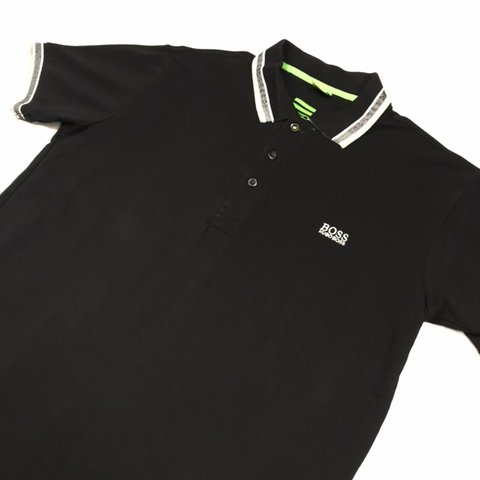 a3d6faa3e2f @wynns_wardrobe. last month. Wolverhampton, United Kingdom. Men's Hugo Boss  Short Sleeved Polo Shirt Black/White Labelled as a Large but could fit a  Medium.