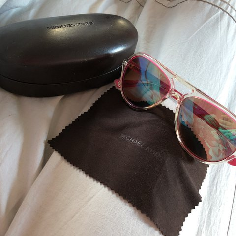 421da3a6e @sophabulous. last year. London, United Kingdom. Pink & Clear Reflected  Excellent Condition Michael Kors Ladies Sunglasses!