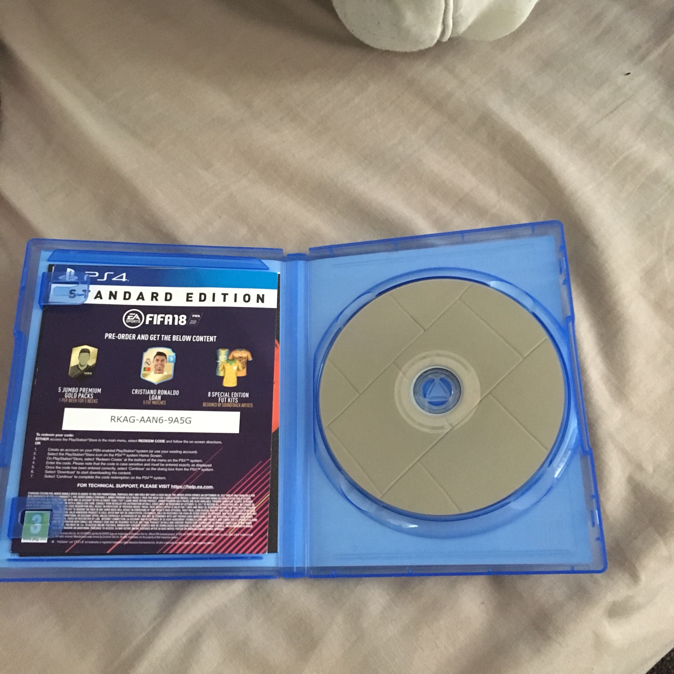 Fifa 18 PS4 game for sale  Won't be playing this    - Depop