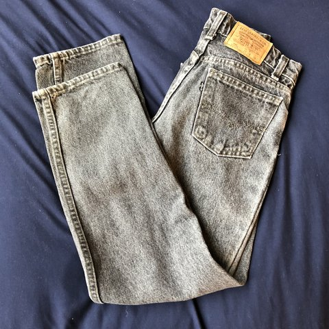 111aed00 @haybar. last year. Kennesaw, United States. Levi's 550 Highwaisted Washed  Out Black Jeans