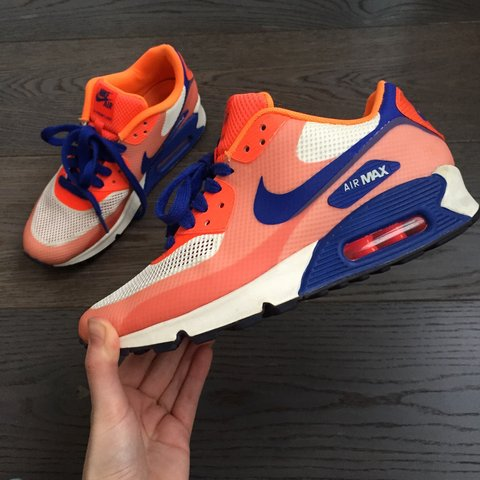 9870da981f9a Nike air max hyperfuse! In limited edition neon orange and - Depop