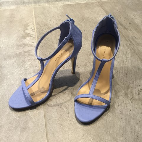 49144dc30 @dankant. 3 years ago. London, UK. Barely there heels! New look strappy blue  heels. Stiletto, roughly 2.5/3 inch heel. Only worn once ...