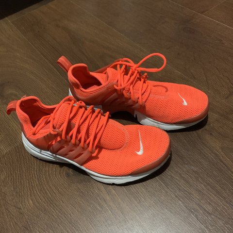 53cc883603e2 Orange Nike prestos knitted trainers Size 4.5 will also fit - Depop