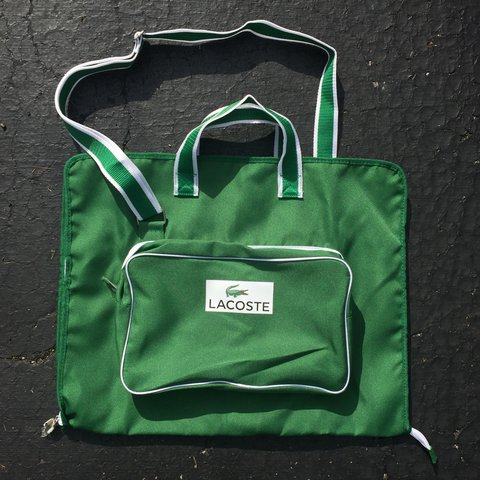 701c88d1bb NWOT Lacoste Garment Bag! Kelly green with white accents. - Depop
