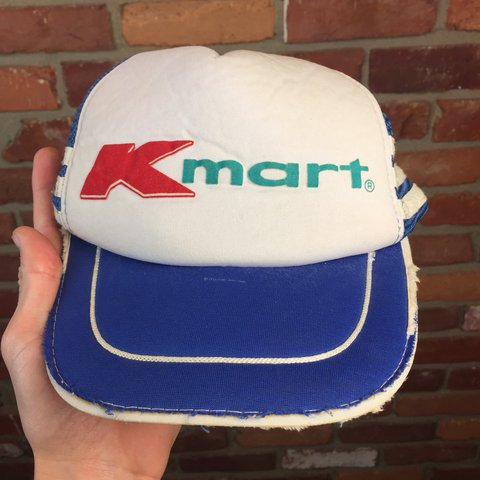 b0268b9278354 Vintage KMART SnapBack trucker hat! Naturally distressed us - Depop
