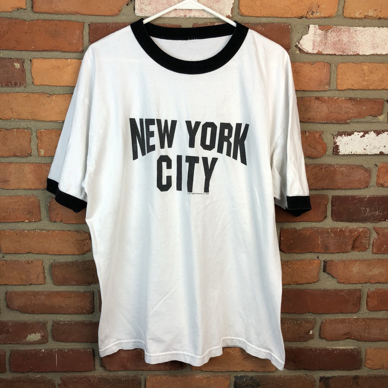 Vintage JOHN LENNON NEW YORK CITY ringer t shirt! Good and - Depop ba892096d6d