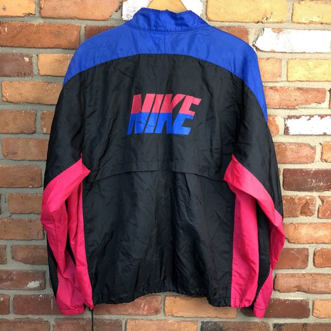 Vintage NIKE GRAY TAG FULL ZIP WINDBREAKER JACKET! Black 25fc1163c