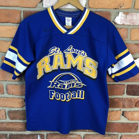 b3f11a245a6 @zor1n. last year. West Milton, United States. Vintage 1990s St Louis Rams  Jersey Shirt!
