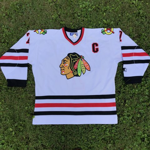 eed1f357927 @zor1n. 9 days ago. West Milton, United States. Vintage NOS 1990s Authentic  Chris Chelios CHICAGO BLACKHAWKS white Starter jersey!