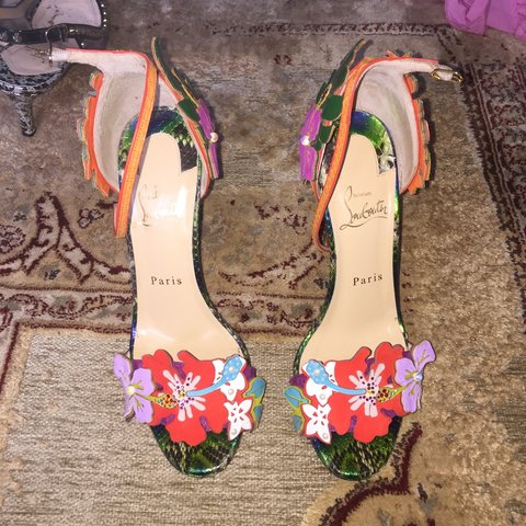 10eed2f5a5b1 Christian Louboutin HA WHY LUNA size 38. Beautiful multi and - Depop