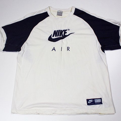 1f2820470c89 ☁ NEW ☁ Vintage Nike Air tshirt top. White and navy colour - Depop