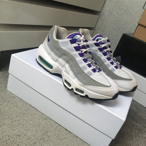 buy popular b7da0 439b3  breeze03. last year. Potters Bar, United Kingdom. Nike air max 95 og white  grey purple green ...