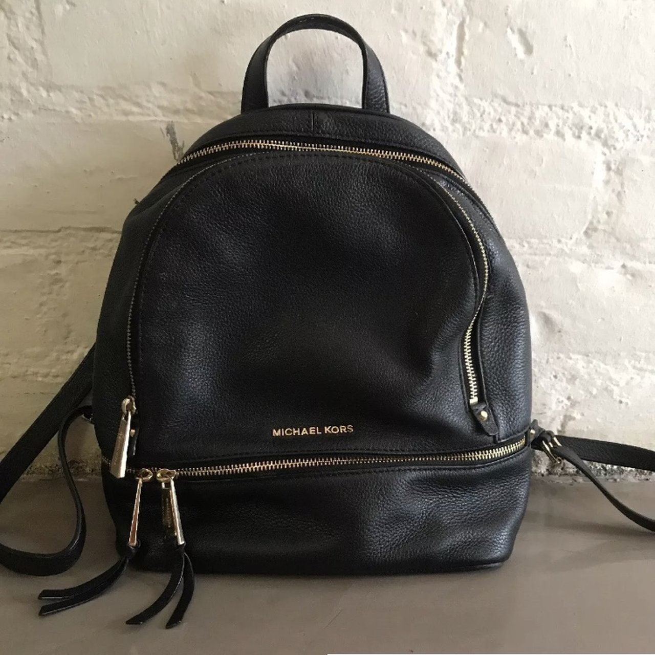 3e30b2e7fca6 @sgregg20. 11 months ago. Los Angeles, United States. Michael Kors Rhea Zip Small  Leather Backpack ...
