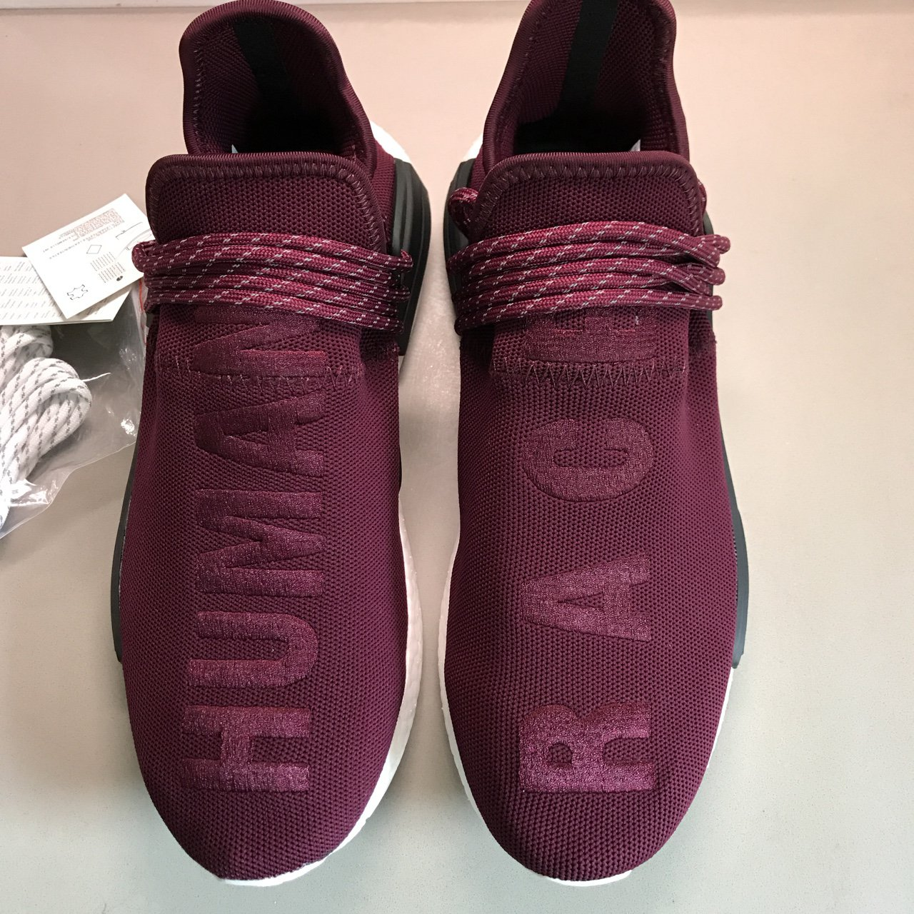 550a6313b Sample Human Race Burgundy - These are the sample of the and - Depop