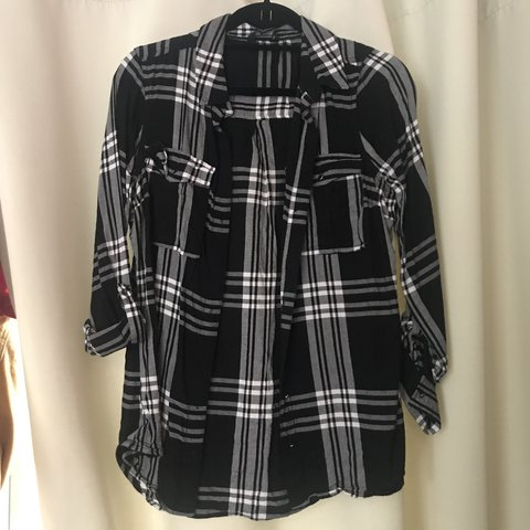 f8b8da50a3cbe0 Black and white shirt from Tesco (f&f), size 8. Excellent #8 - Depop