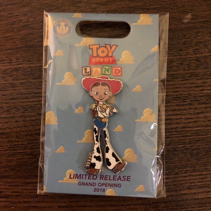 Toy Story Land Jessie rare commemorative pin from    - Depop
