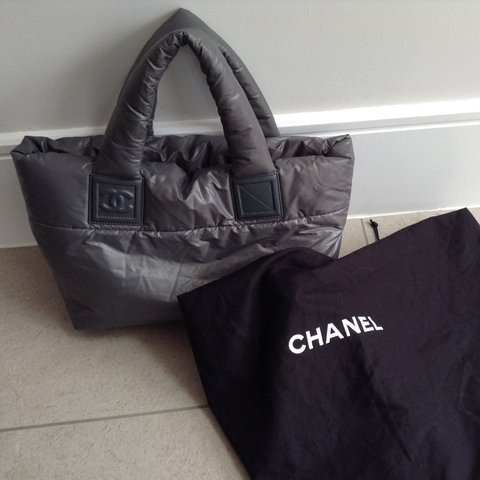a995af29b11a8c @emilie_d. 3 years ago. Oxshott, Surrey, UK. Genuine Chanel Cocoon Tote in  grey in perfect condition.