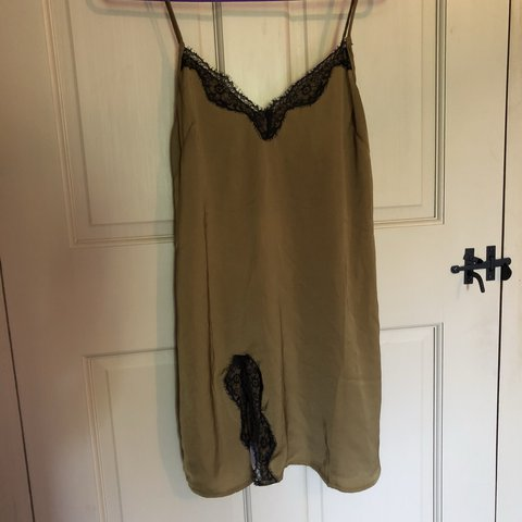 40aa7945110c @reaganingalls. 10 months ago. Pinopolis, United States. green and black  lace slip dress from urban outfitters ! ...