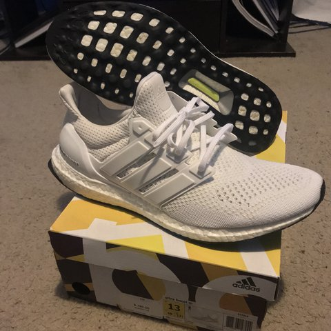 fd1080df2b4a9 Mens Adidas Ultra Boost 1.0 White Size 13 up for sale. Shoes - Depop