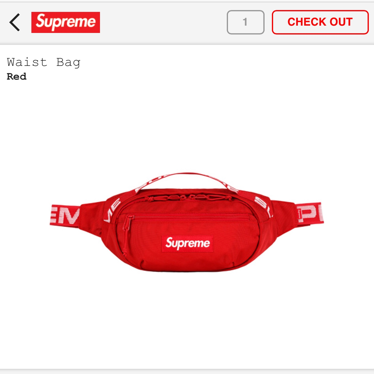 multiple colors new varieties cheapest price Supreme Red Fanny pack waist bag Bogo for sale SS18 ...