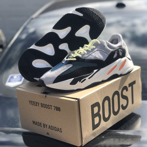 72a8e2bb08113 Adidas Yeezy Boost 700 Wave Runner for sale size 12. Shoes a - Depop