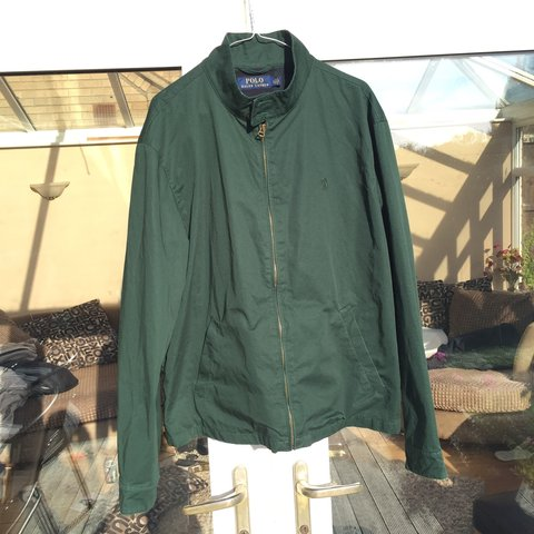 687fd918e Polo Ralph Lauren Green jacket Retail price - £180 with - Depop