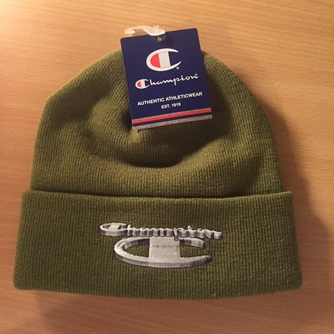 8861084919d86 Supreme x champion beanie Only olive colourway on depop on - Depop