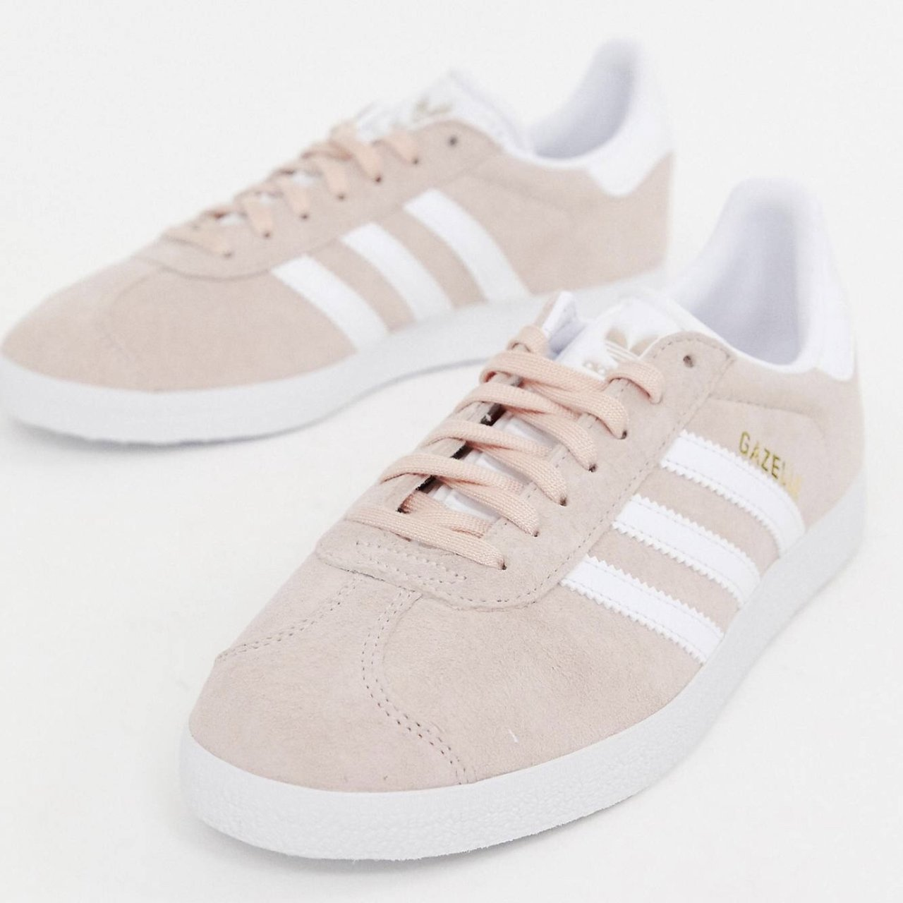 newest 7fcbe a14ea stephjaimes. last month. Houston, United States. Light pink adidas gazelle.