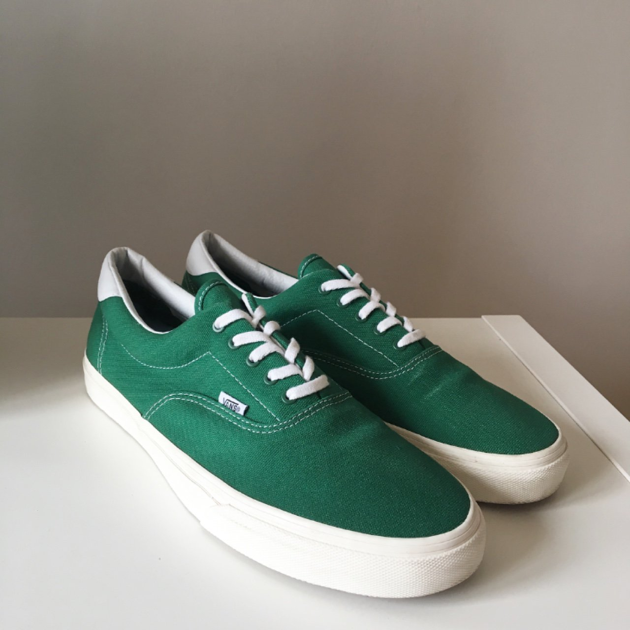 Vans Era 59. Green with off-white midsole and honeycomb worn - Depop 523bc27fb4