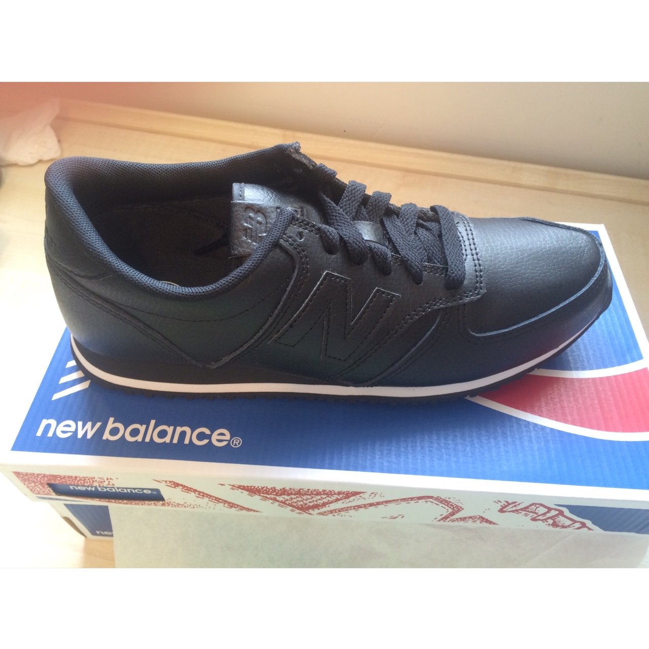 cd665a38820aa @nicolawood. 3 years ago. Leeds, UK. New balance 420 all black leather  trainers ...