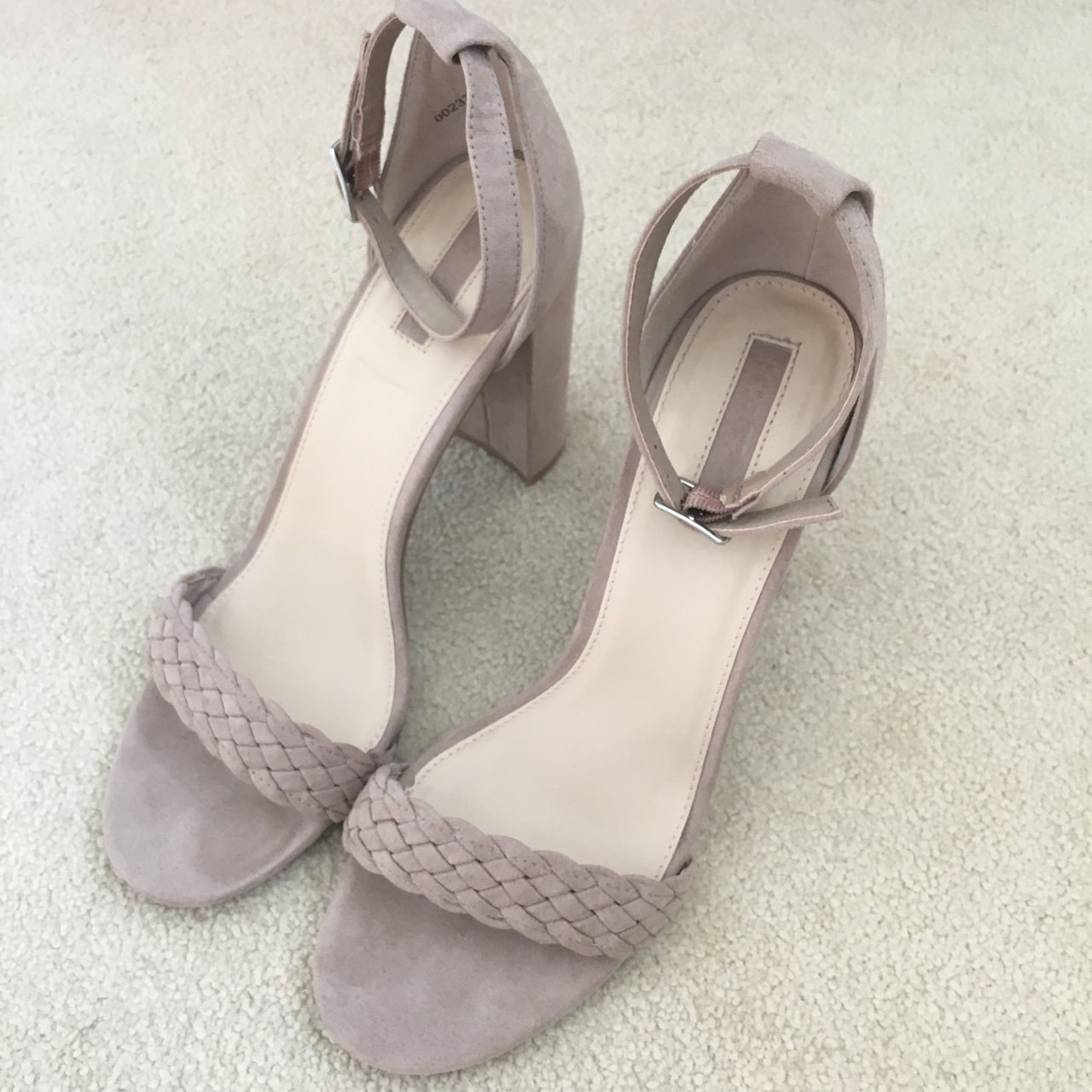 ec907a61862 Forever 21 nude plaited strappy heels. Excellent condition