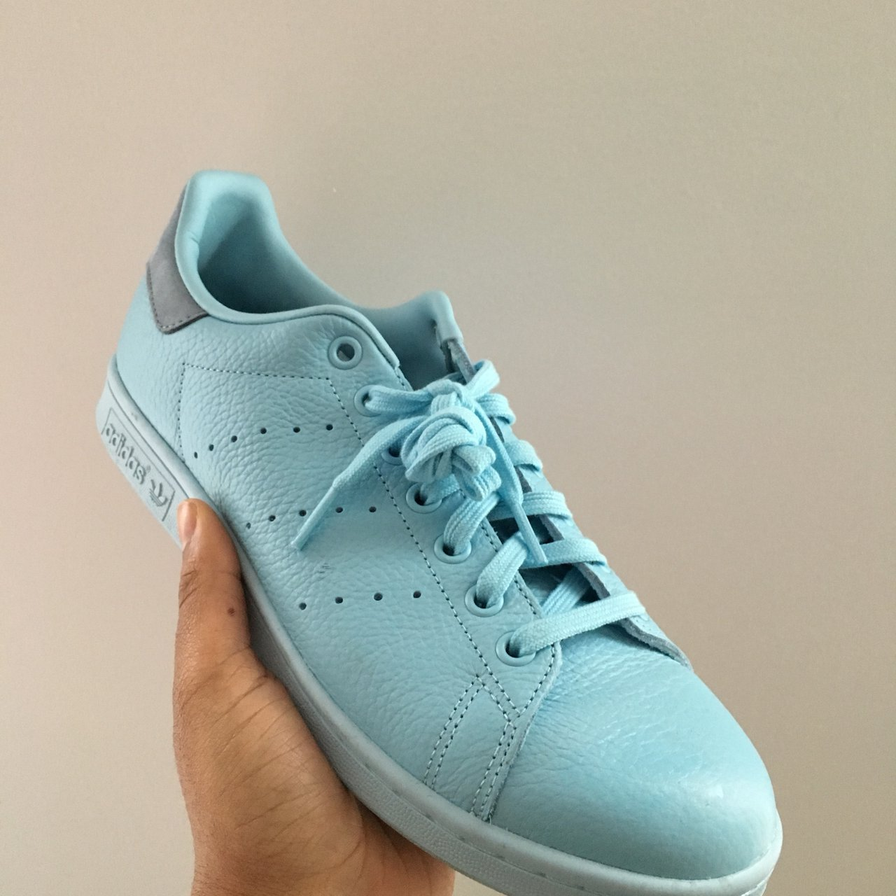 Adidas Originals Stan Smith • Pastel Blue • Women s size  - Depop ac63d83528